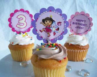 Dora the Explorer Themed Cupcake Toppers-Printable