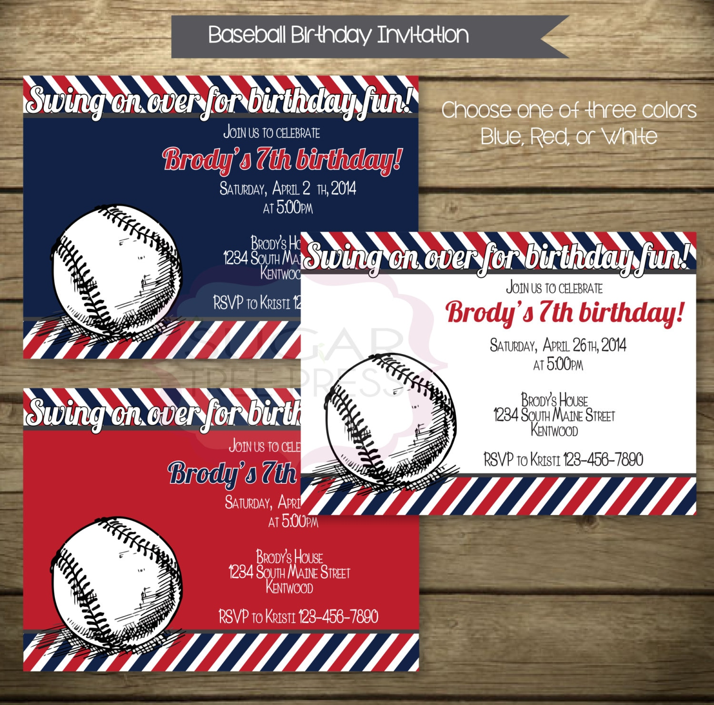 baseball theme invitations - Keni.candlecomfortzone.com