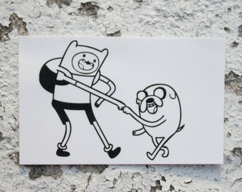 Adventure Time Finn the Human and Jake the Dog Sticker