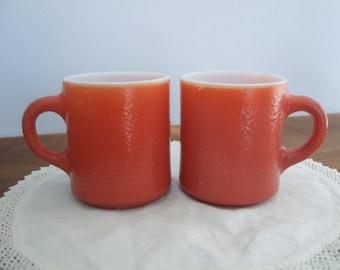 Vintage Grapefruit Mug Pair