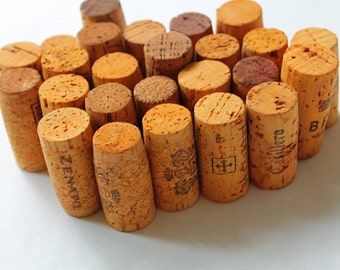 Craft Corks - Orange Wine Corks - upcycled DIY supply, 20 orange craft corks - eco crafting