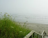 Rustic Beach Scenery Foggy Nautical Photography Photo Picture