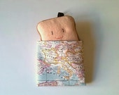 Worldwide Map sandwich wrap - Vintage style Mapamundi - SALE