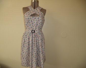 Vintage Inspired 1952 Handsewn Dress
