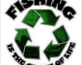 Fishing Is The Circle Of Life....Funny Fishing Decal Window Laptop Fun Fishing Sticker