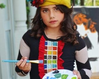 Girl's Little Artist long sleeve t shirt