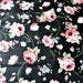 Black Floral Fabric Designer Yardage Pink and blue flowers Vintage 1990s
