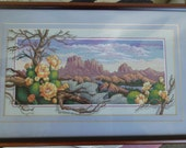 Cactus roses counted cross stitch