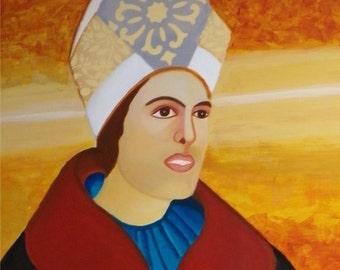 preacher/pope/religious art