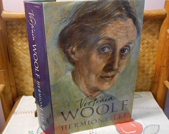 VIRGINIA WOOLF BIOGRAPHY Book, Famous Woman Modernist & English Author Victorian Edwardian Society, Photos, Detailed Read, 1st Brit Ed hcdj