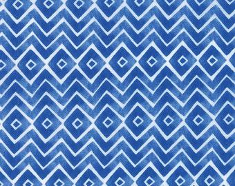 Fleurologie - Zig Zag Chevron in Blueberry by Stephanie Ryan forModa Fabrics