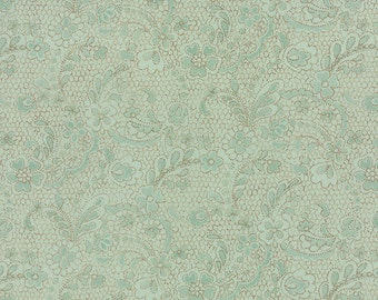 Lulu - Lacey in Mist by Chez Moi for Moda Fabrics