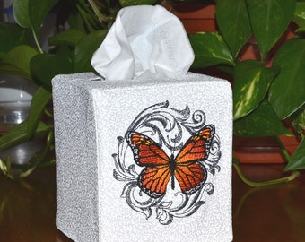 Monarch Butterfly Tissue Box Cover