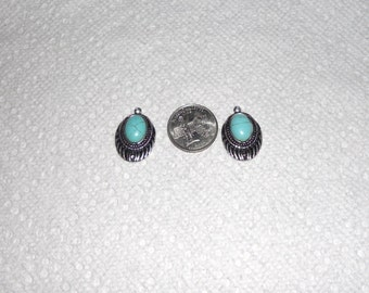 Native American style charms, set of 2