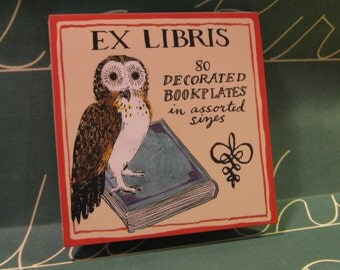 Ex Libris Owl Stickers and Bookplates for Books