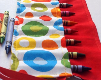 Crayon Roll Up Crayon Holder The Cat In The Hat - Holds 8 Crayons