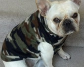 French Bulldog Camo Fleece Pullover Jacket