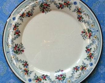 SALE Fleurs de France Platinum Rimmed Plate, The Museum Collection, Gorham Vintage