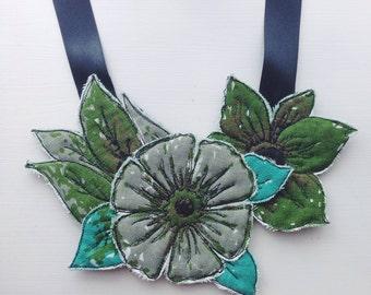 Thread drawn neckpiece