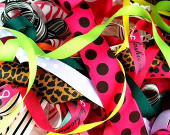 GRAB BAG - 1/4 Pound Grosgrain Ribbon - Ribbon Grab Bag - Hairbow Supplies, Etc.
