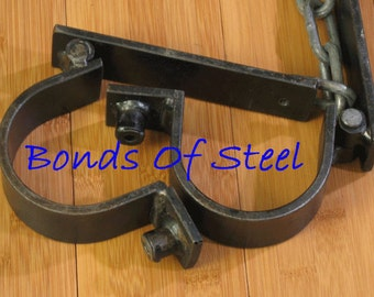 Lead Chained Ankle Cuffs Restraint Bonds of Steel BDSM Mature