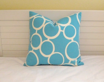 Trina Turk for Schumacher Sunglasses Print in Pool (on Both Sides)  Pillow Cover - Square, Lumbar and Euro Designer Pillow Cover