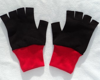 New Black and White series Ash Ketchum Trainer Pokemon Costume Gloves Choose Size