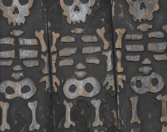 Set of Three Wooden Skeletons wall art (Made to Order)