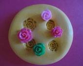 Sale-kawaii flexible silicone mold for mini roses cabochons  258 --USA seller