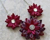 Maroon Necklace, Maroon Jewelry, Wine Necklace, Wine Colored Jewelry, Purple and Wine Wedding, Jewelry Gift, Maroon Wedding, Purple Gift