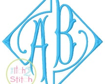 Elegant Framed Monogram Machine Embroidery Font INSTANT DOWNLOAD now available