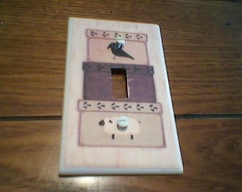 stacked boxes Primitive Light Switch or Outlet cover!!!