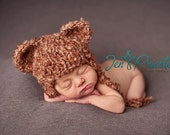 bear hat... newborn hat.. newborn beanie....Photography Prop... photo prop...Newborn photo prop....20% off with code VALEN1 at checkout