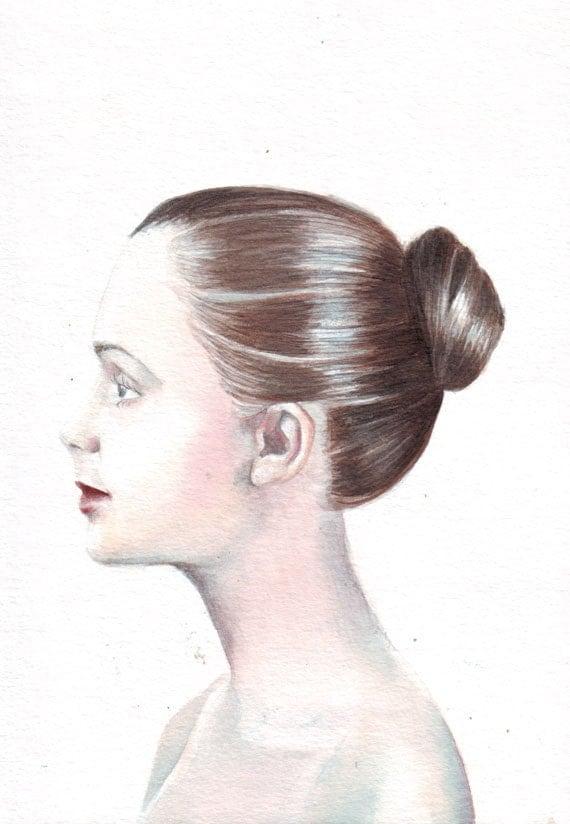 Hnliche artikel wie original aquarell malerei seite for Sofa von der seite