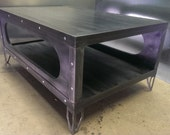 Gunmetal Finish Industrial Coffee Table #029  •  Industrial Style Furniture by Industrial Evolution Furniture Co.