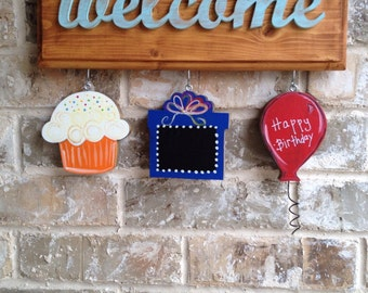 Birthday Ornaments for Welcome Signs