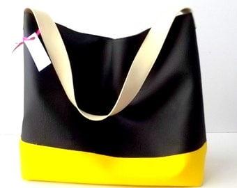 Black shoulder bag, vegan leather hobo bag purse, Italian leather handbags, black leather bag, hobo purse, large leather bag, CHOOSE colors