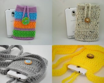 Phone Cozy and Sling - Digital Download PDF Crochet Pattern - DIY Coin Purse Pouch
