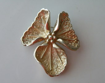 Vintage Sterling silver 925 Molina Mexico Mexican floral pin brooch.