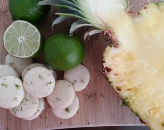 Pineapple Lime Glazed Mini Shortbread Cookies