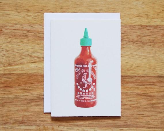 Sriracha Greeting Card