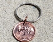 CANADIAN Penny - Hand Stamped Name Penny  - Personalized (necklace, keychain, or cell charm) -Made to Order-