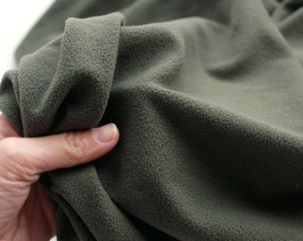 light weight wide polar fleece 1yard (58 x 36 inches) 53749 khaki