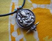Ganesh Prayer Box Pendant Necklace Hindu God Symbol Good Luck Charm Jewelry