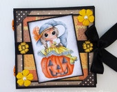 Post It Note Holder - Halloween Witch & Pumpkin