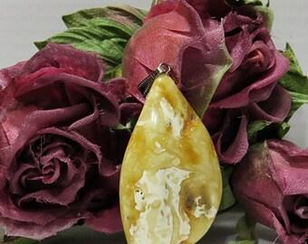 100% Natural Genuine Baltic Amber./Pendant /Baltic Amber In Handmade - Amber Jewelry / Raw Amber Pendant