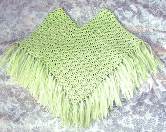 Green Baby Poncho, Green Poncho, Green Easter Poncho, Green Spring Poncho, Green Summer Poncho, Mint Green Easter Poncho, Green Poncho