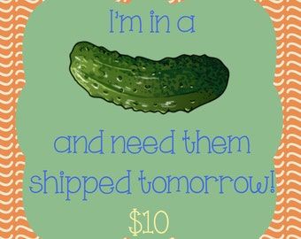 I'm in a Pickle and Need them Shipped Next Day!