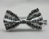 Music Notes Clip on Bow Tie - Infant, Toddler, Boys