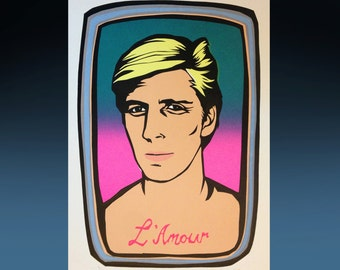 Lewis, L'Amour screen print poster